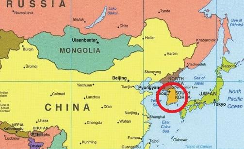 Corea - ubicación